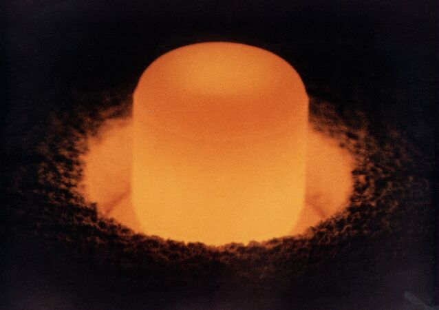 A severe shortage of plutonium-238, shown here, could force NASA to ax its deep space exploration program.