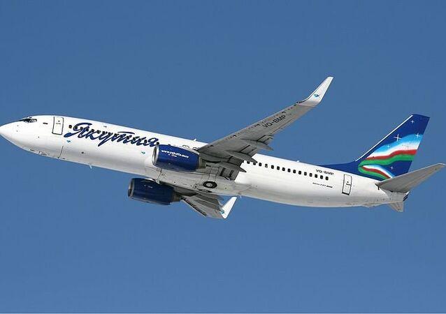 Самолет Boeing 737-800 авиакомпании Якутия