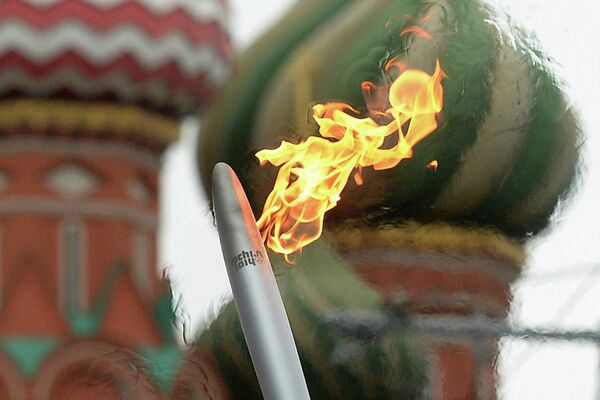 Sochi Olympic Flame Arrives at North Pole – Official - Sputnik International