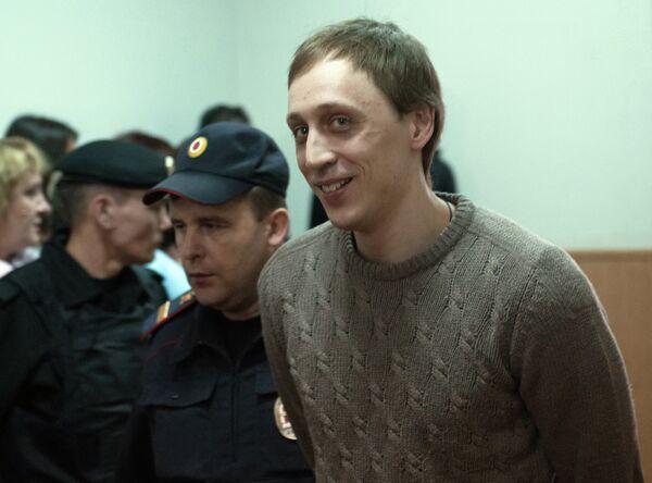 Pavel Dmitrichenko in court on Oct. 29, 2013 - Sputnik International