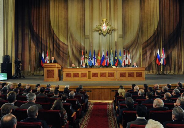 Meeting of Russia's top military leadership - Sputnik International