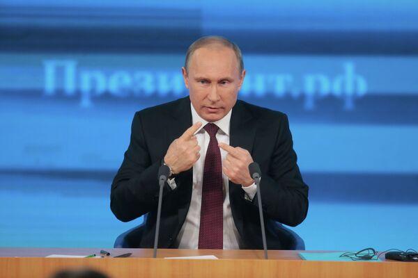 Vladimir Putin at his annual press conference marathon - Sputnik International