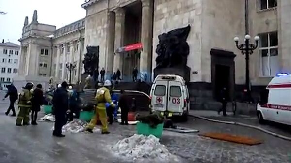 Explosion at Train Station in Volgograd - Sputnik International