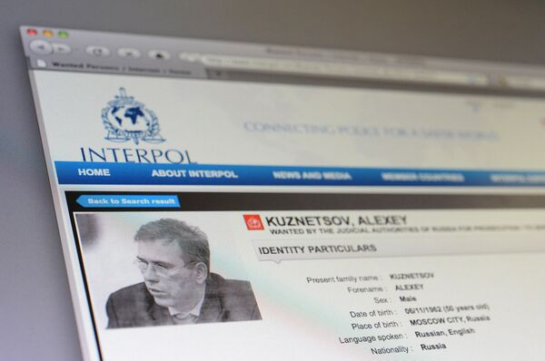 A picture of Alexei Kuznetsov on Interpol website - Sputnik International
