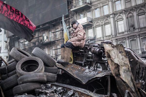 Violent protests in Kiev - Sputnik International