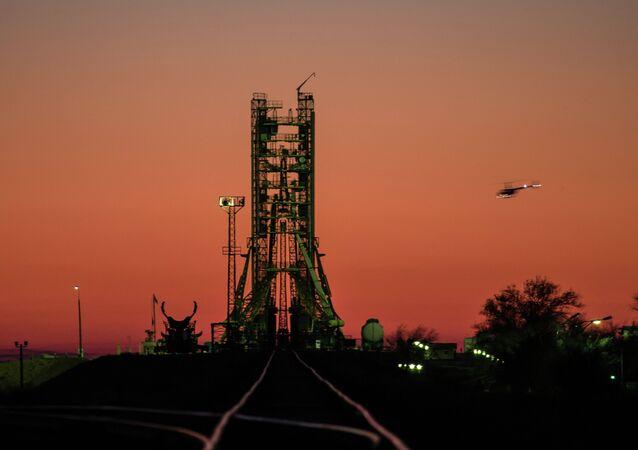 Пусковая площадка на космодроме Байконур. Архивное фото