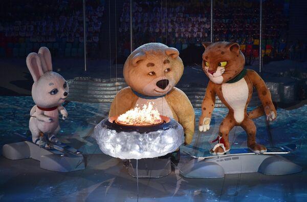 Elegant Ceremony Bring Winter Olympics to a Close in Sochi - Sputnik International