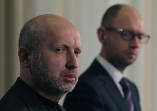 Oleksandr Turchynov and Arseniy Yatsenyuk