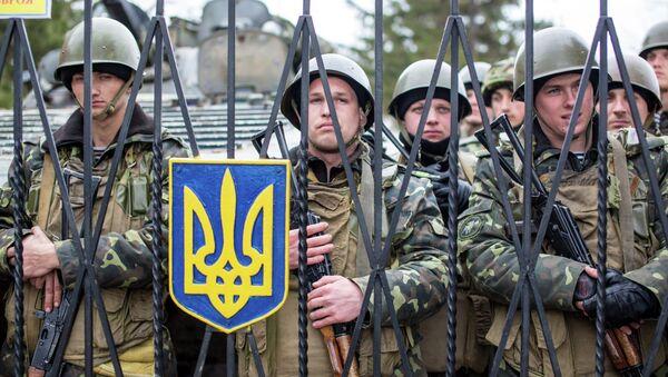 Ukrainian military men in Crimea (archive) - Sputnik International