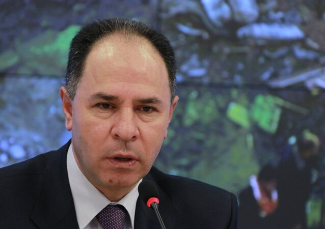 Palestinian Ambassador to Russia Fayed Mustafa gives news conference
