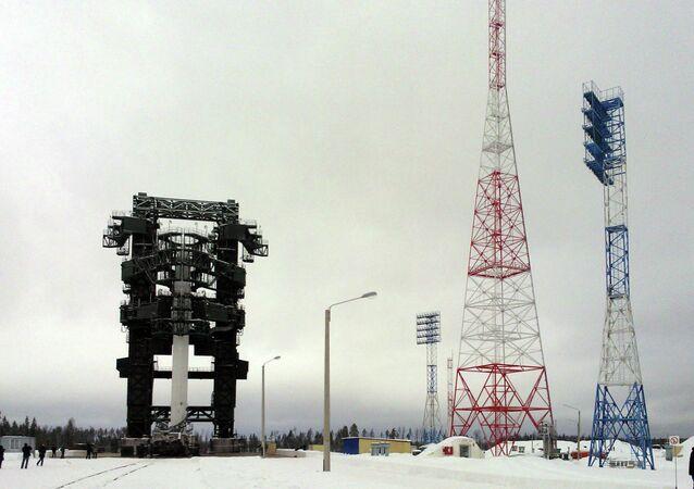 Макет ракетного комплекса Ангара на космодроме Плесецк