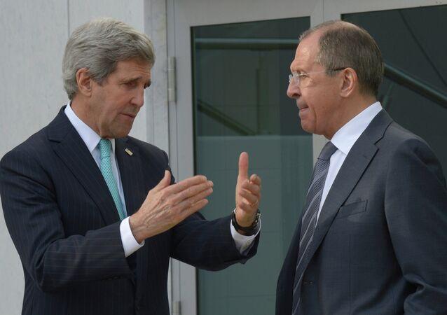 Sergei Lavrov meets with John Kerry in Geneva