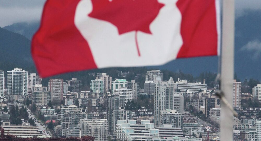 Canadian flag in Vancouver