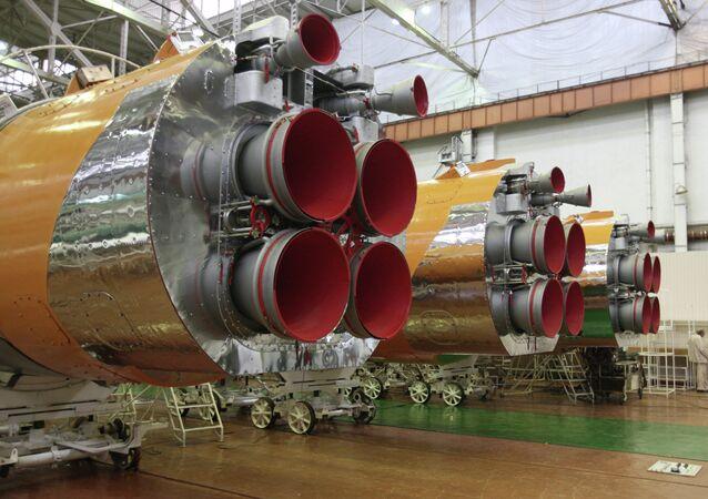 Progress rocket and aircraft engine assembly line
