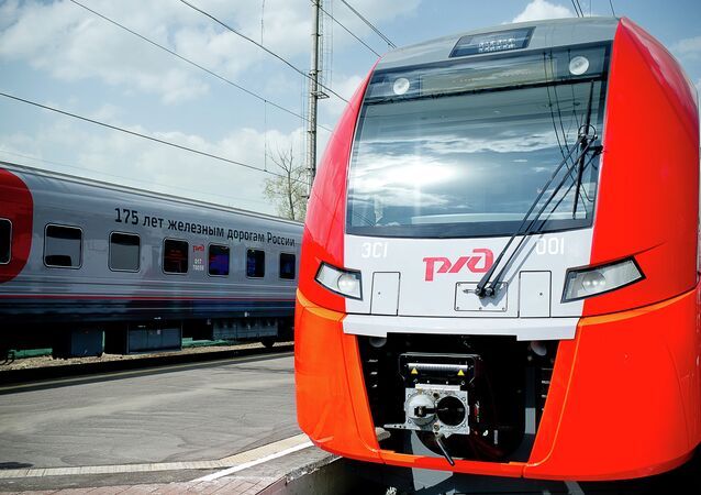 The Lastochka electric train - a result of cooperation between the Russian Railways and Siemens.