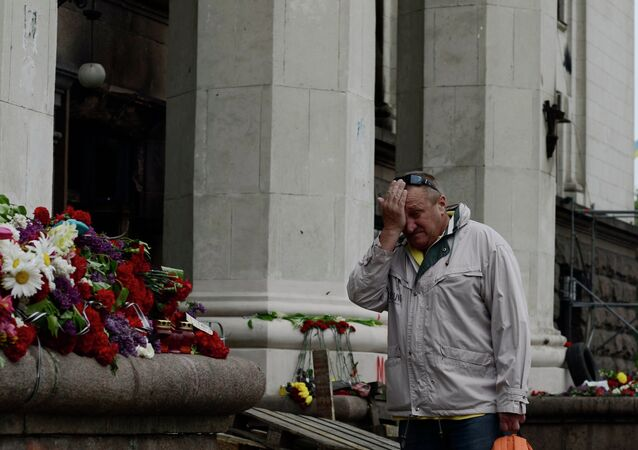 Odessa mourns Trade Unions House fire victims