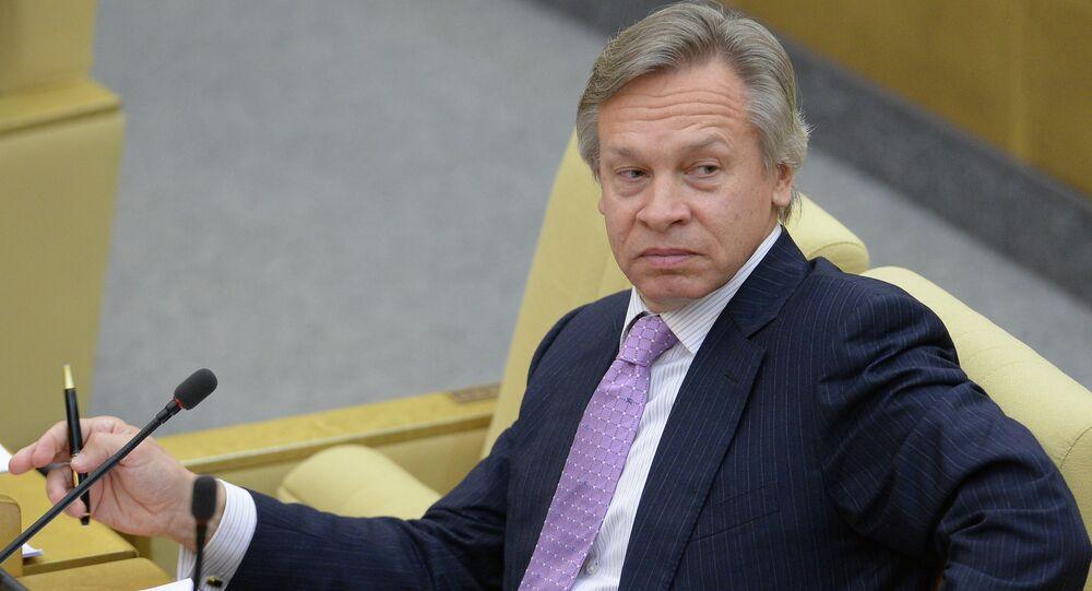 The chairman of the Russian State Duma's International Committee Alexei Pushkov