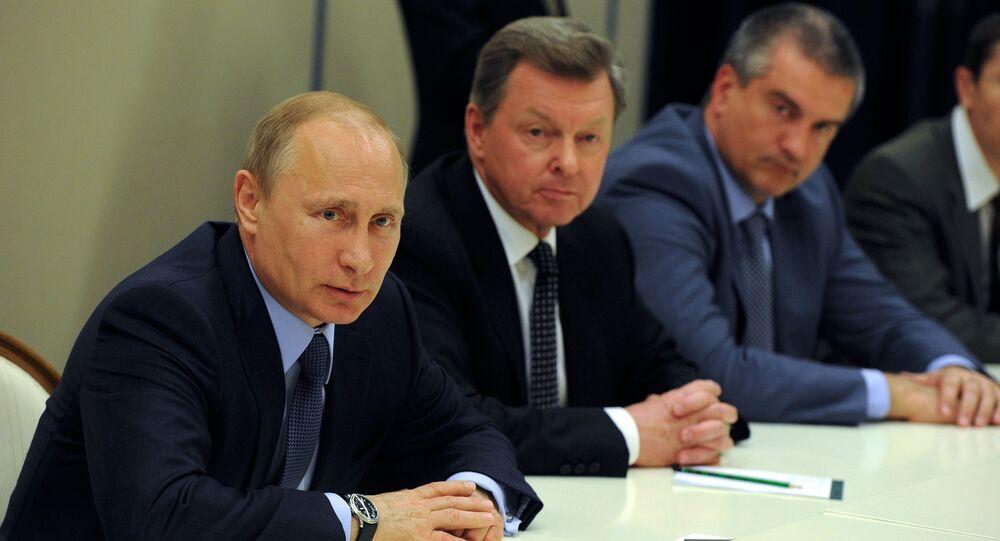 Vladimir Putin meets with Crimean Tatars