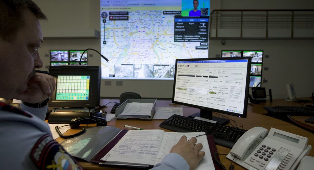 Control center of the Russian Interior Ministry's Moscow City police department