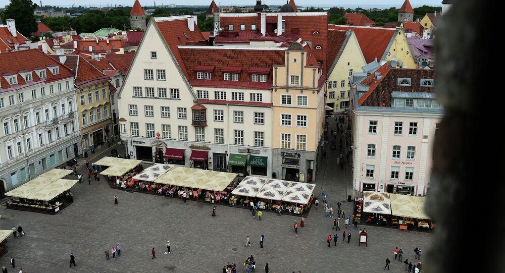 Town Hall Square in Tallinn.