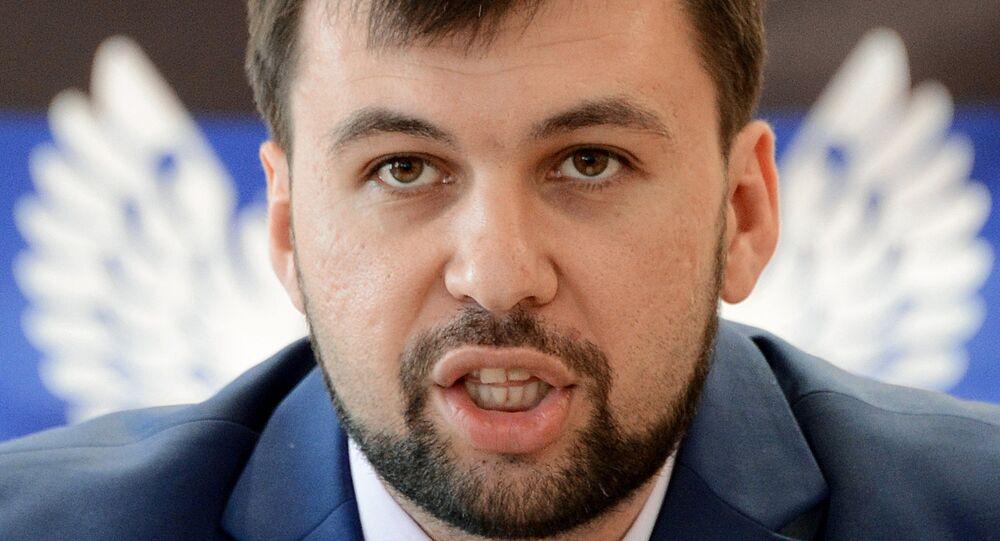 Denis Pushilin's address