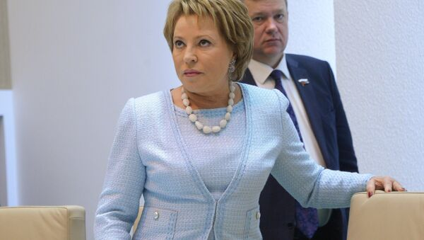 Speaker of the Russian Federation Council Valentina Matvienko - Sputnik International
