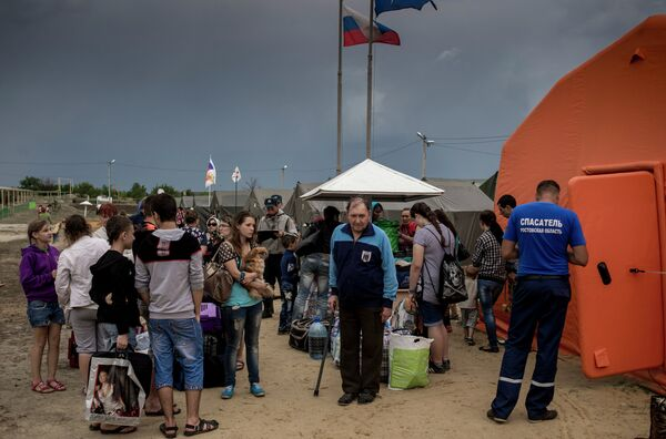 Refugee camp for Ukrainians in Rostov region - Sputnik International