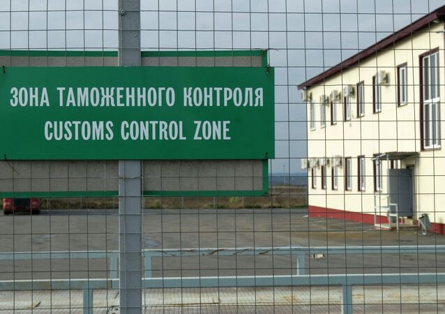 Customs checkpoint on Russian border