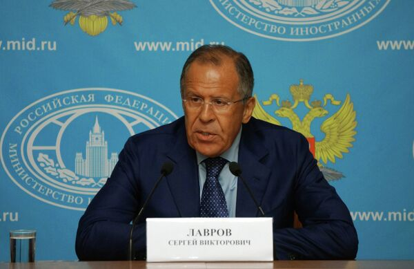 Press conference of the Russian Foreign Minister Sergei Lavrov - Sputnik International