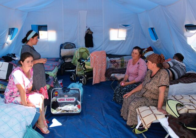 Tent camp in Sevastopol for refugees from Donbass