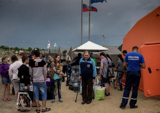 Ukrainian refugees in Russia's Rostov region