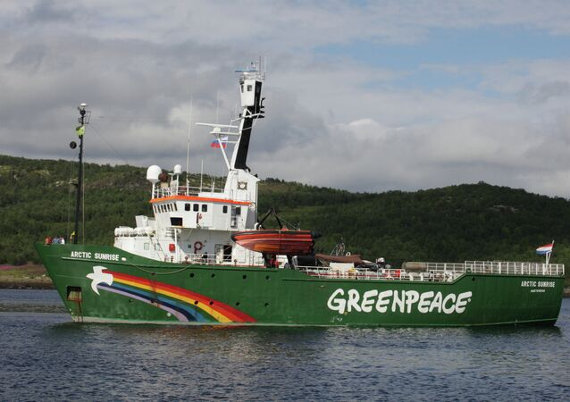 The Spanish Navy has rammed three Greenpeace motor boats, launched from the Arctic Sunrise ship off the Canary Islands in protest against oil drilling by the Spanish Repsol oil company.