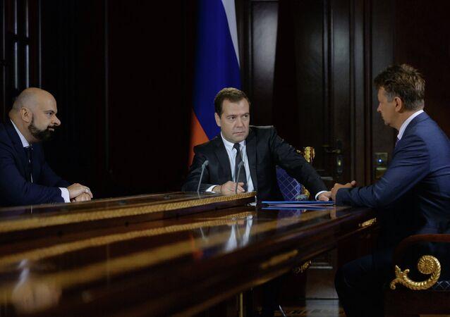 Dmitry Medvedev meets with Maxim Sokolov and Vadim Zingman