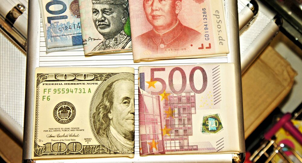 Chinese yuan toghether with other currencies - the dollar, the euro, the Malaysian ringgit and the Indonesian rupiah.