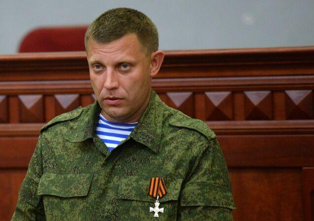 The self-proclaimed Donetsk People's Republic head Alexander Zakharchenko