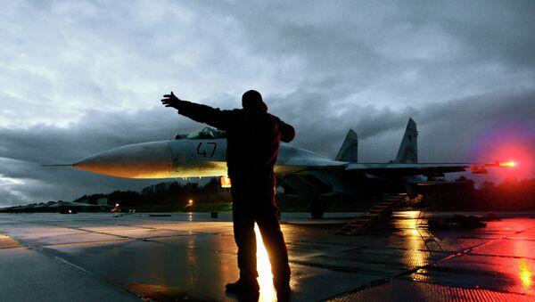Flying Su-27 fighters in the Kaliningrad region - Sputnik International