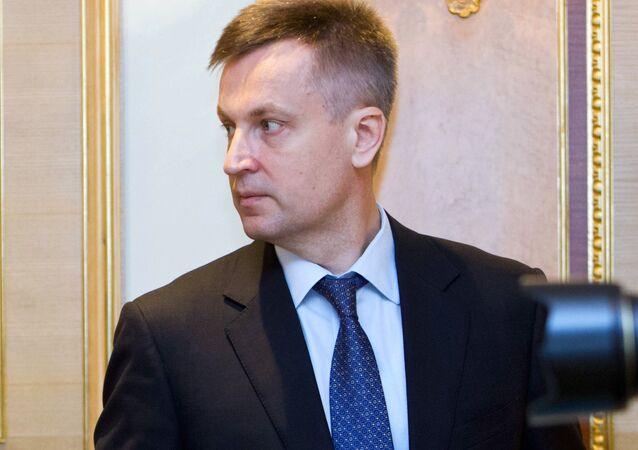 The head of Ukraine's security service, Valentyn Nalyvaichenko, cancelled his trip to Washington, DC.