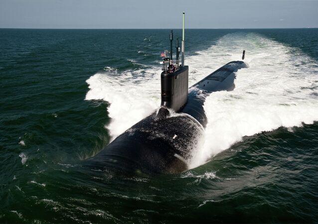 The Virginia-class fast-attack submarine USS California