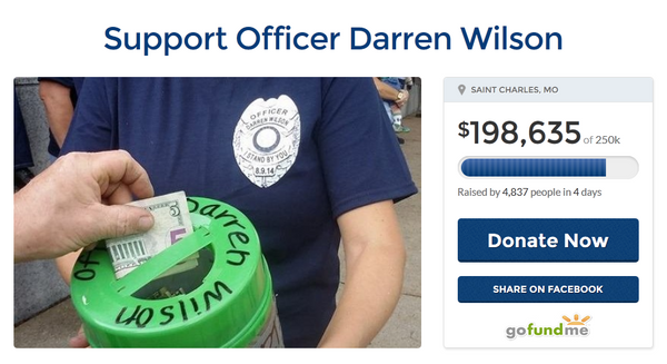 Online donation pages for Darren Wilson, the policeman who killed an unarmed African-American teenager raised more than $250,000 - Sputnik International