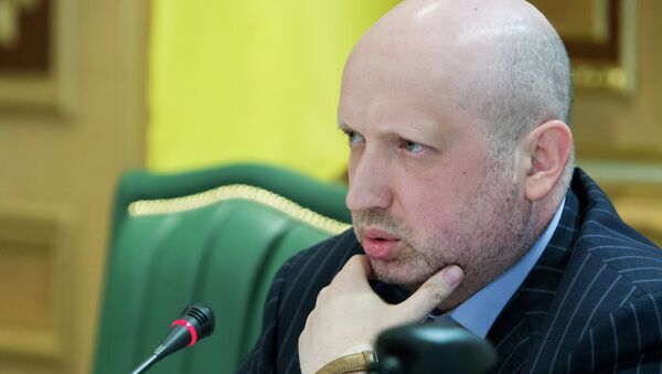 Oleksandr Turchynov said that Kiev was planning to end its military operation in eastern territories of Ukraine by October - Sputnik International