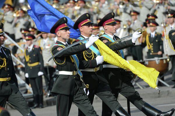 A military parade during the celebration of Independence day of Ukraine. - Sputnik International