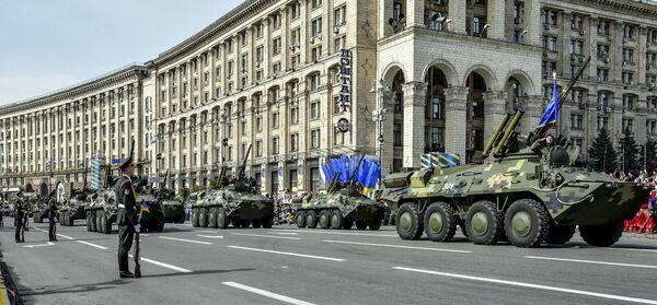 A military parade during the celebration of Independence day of Ukraine - Sputnik International