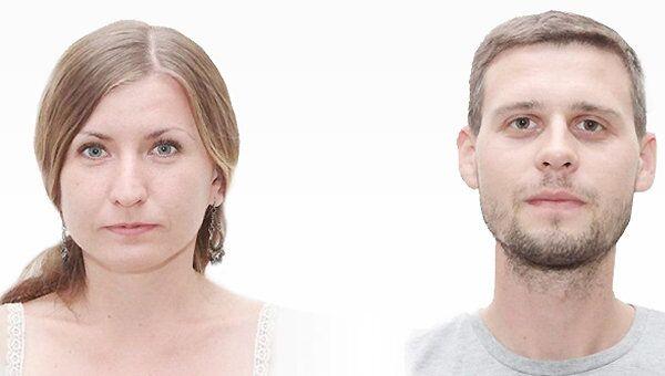 Yevgeniya Koroleva and Maxim Vasilenko - journalists of the Crimean Telegraph newspaper, detained by Right Sector militants in eastern Ukraine. - Sputnik International