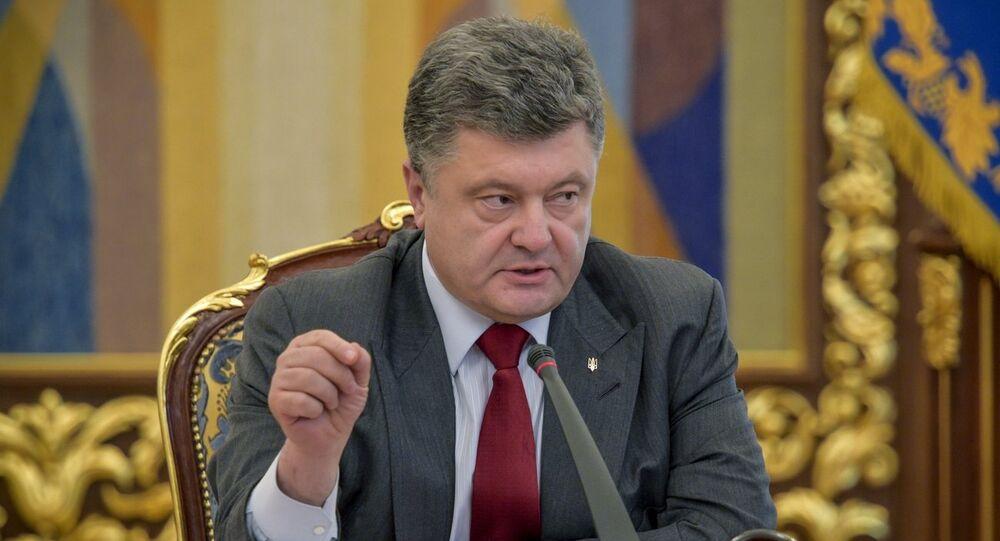 Ukrainian President Petro Poroshenko signed a decree dissolving the country's parliament