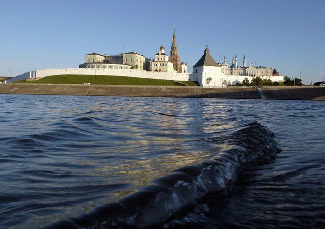 View of the Kazan kremlin from Volga River