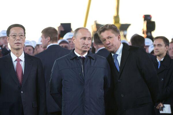 Russian President Vladimir Putin attended Gazprom's groundbreaking ceremony for its construction of the Power of Siberia pipeline - Sputnik International