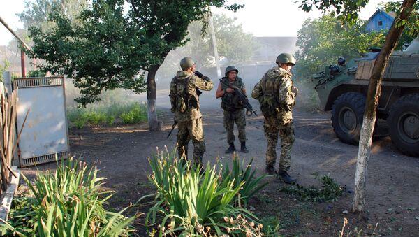 Militiamen of the Donetsk People's Republic in Donetsk Region in southeastern Ukraine. - Sputnik International