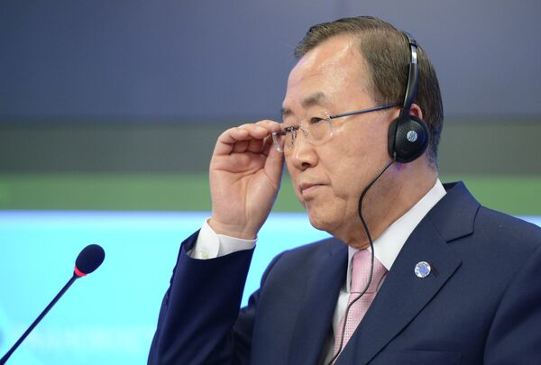 Ban Ki-moon has seen the preliminary report on the causes of flight MH17 crash and has taken it into account, his spokesperson Stephane Dujarric said Tuesday - Sputnik International
