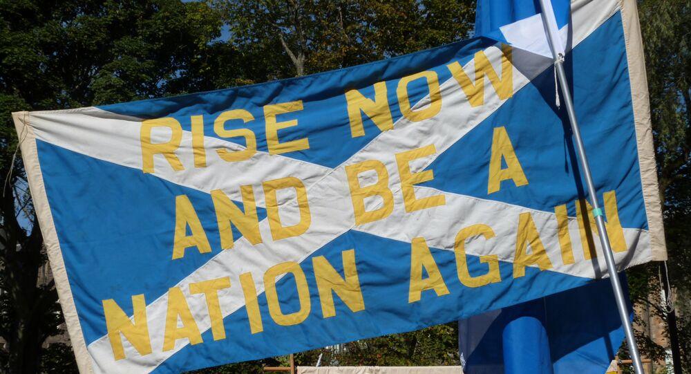 Плакат в поддержку независимости Шотландии