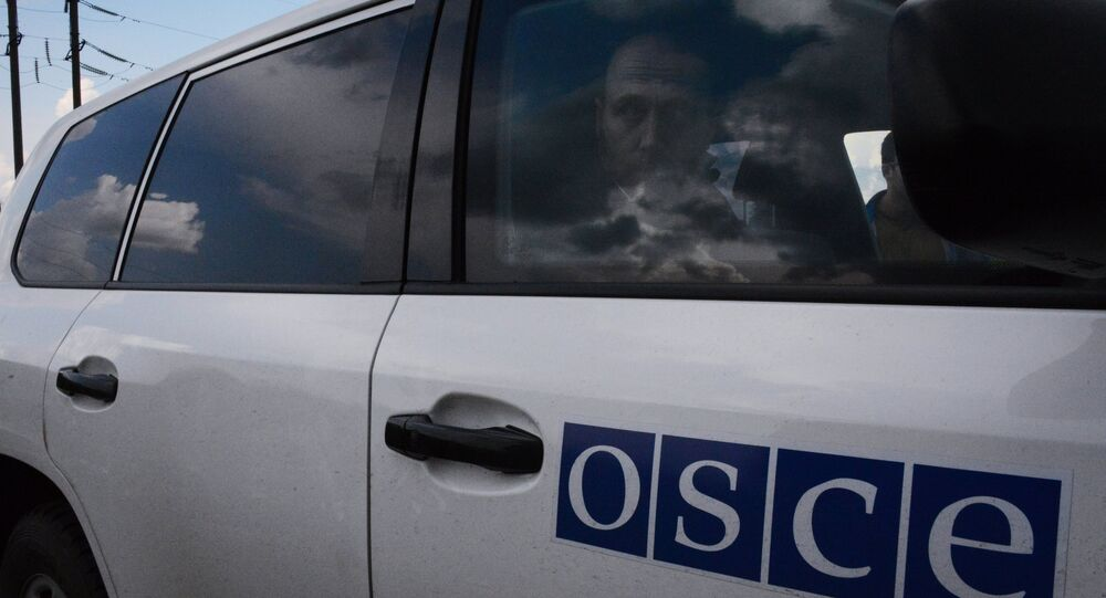 Released OSCE military inspectors arrive in Donetsk